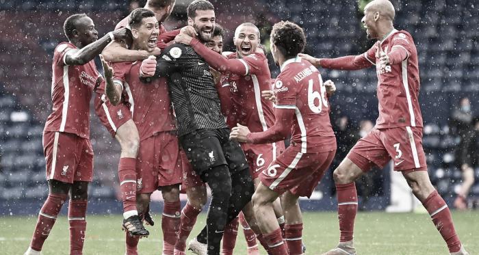 Do lamento ao êxtase! Com gol de Alisson nos acréscimos, Liverpool vence West Brom e segue vivo pela vaga na Champions