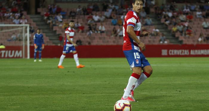 Nico Aguirre en un partido del Granada CF   Foto: Antonio L. Juárez