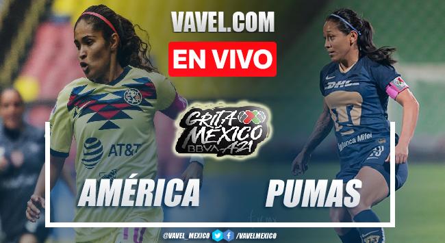 Goles y resumen del América Femenil 2-2 Pumas Femenil  en Liga MX Femenil 2021