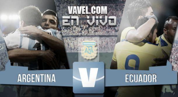 Resultado Argentina - Ecuador por Fecha FIFA 2015 (2-1)