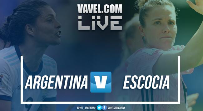 Resultado Argentina 3-3 Escocia por el Mundial Femenino