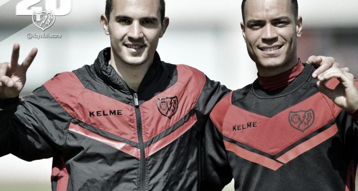 Armenteros y Raúl de Tomás indicado 20 goles con el Rayo. Fotografía: Rayo Vallecano S.A.D