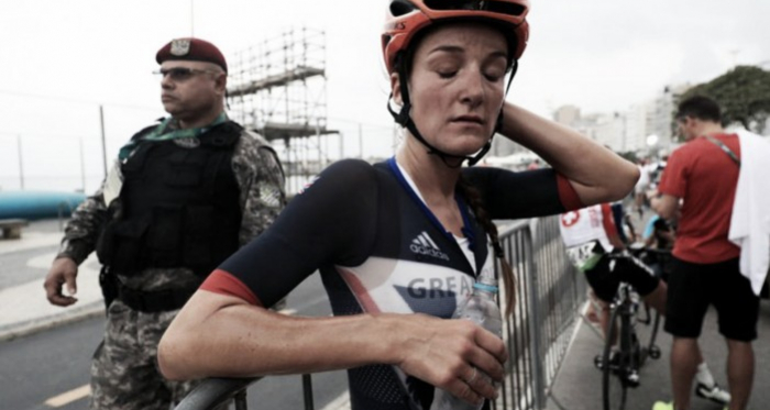 A tired looking Armitstead after yesterday's tough race / The Independent