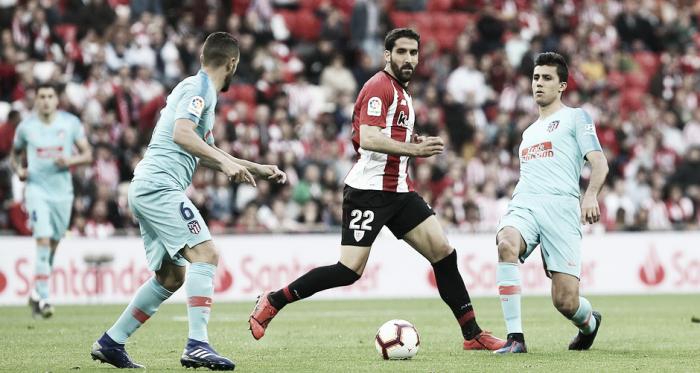 Primeros minutos del partido. / Foto: Club Atlético de Madrid.