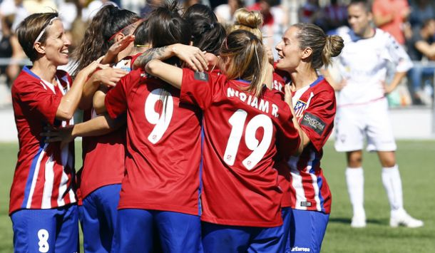 Una goleada histórica impulsa al Atleti Féminas a la segunda plaza
