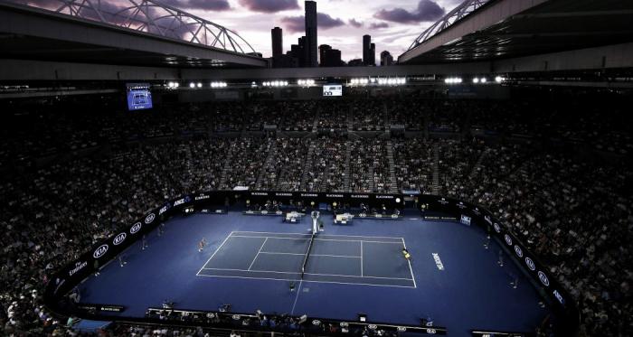 Imagen la pista central, la Rod Laver Arena. Foto: Australian Open.