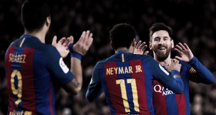 O trio «MSN» marcou 4 dos 6 golos (Foto: espn.com)