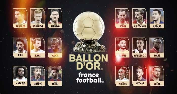 Los 30 nominados al Balón de Oro / Foto: France Football