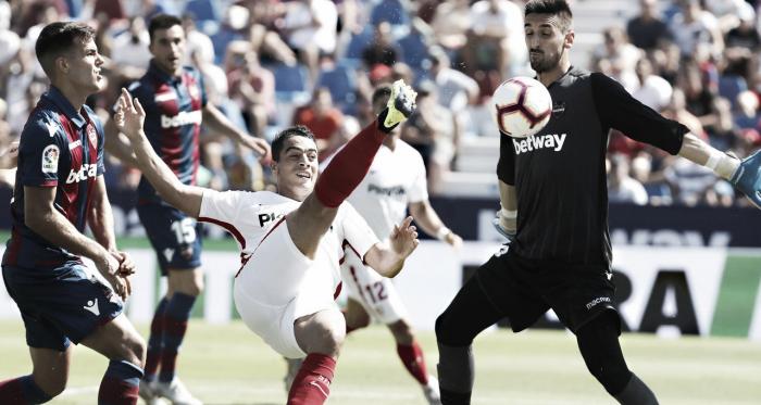 BenYedder marcó un hat-trick en la primera vuelta contra Levante | Foto: Sevilla FC