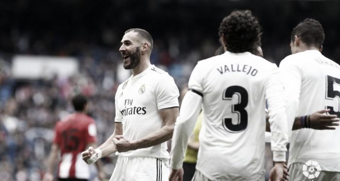 Karim Benzema, único goleador en el Real Madrid - Athletic Club y pichichi del equipo blanco | Foto: LaLiga.es