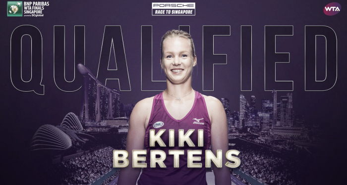 Kiki Bertens has successfully qualified for the WTA Finals and will compete with the world's best | Photo: WTA