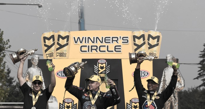 The victors in victory lane after the race on Sunday   Source: Brandon Farris - VAVEL USA
