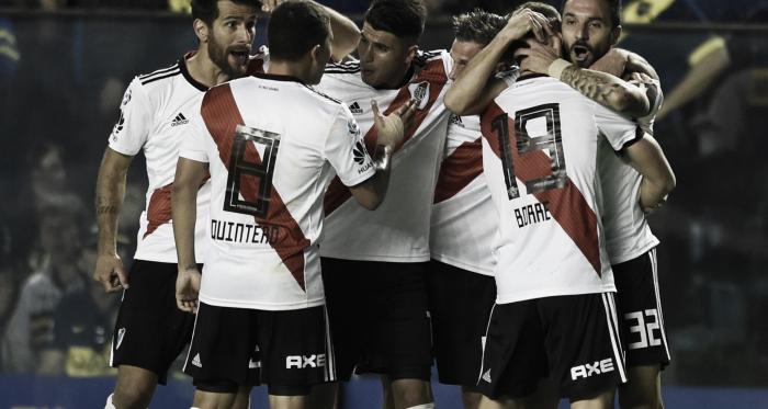 River Plate festeja el segundo gol en la Bombonera.