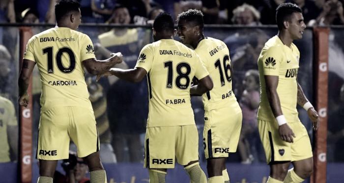 Los colombianos festejando un gol. Foto: AS