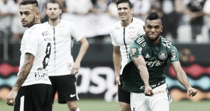 Borja comemorando um de seus gols pelo Palmeiras (Foto: Divulgação/Palmeiras)