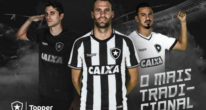 Botafogo apresenta uniformes para temporada 2018