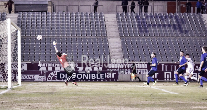 Moha marca el quinto tanto del partido (Foto: Real Jaén)