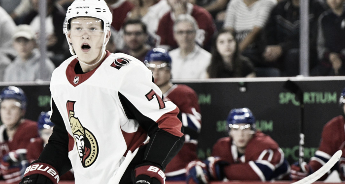 Brady Tkachuk Ottawa Senators. (Photo courtesy of Sportsnet.ca)