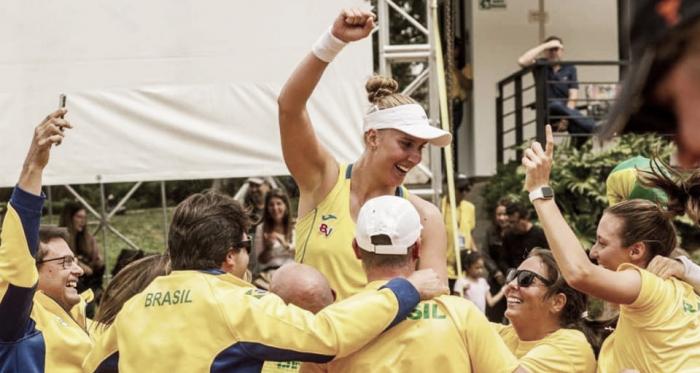 Número um do país, Haddad Maia garantiu a vitória brasileira em Medellín (Foto: Divulgação/CBT)