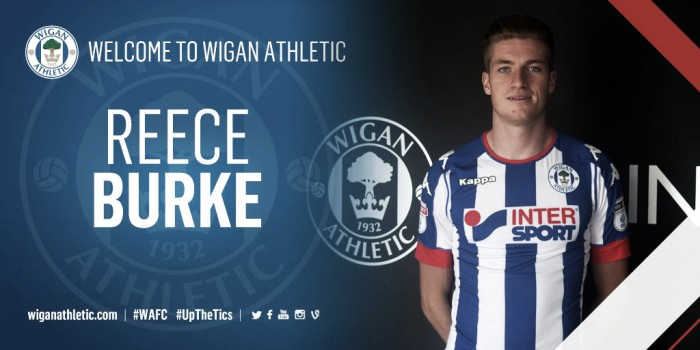 Reece Burke been unveiled as a Wigan Athletic player | Photo: Wigan Athletic