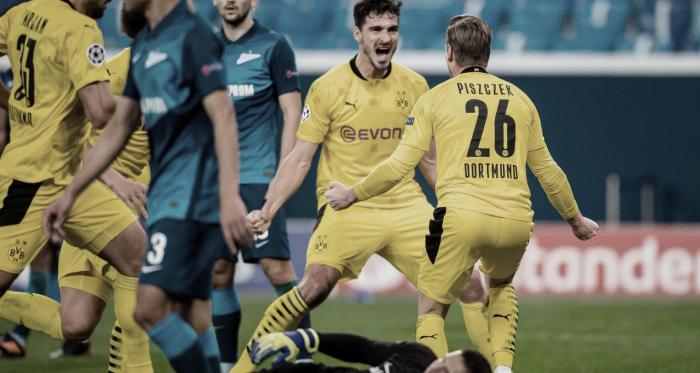 Com gol decisivo de Witsel, Dortmund vira sobre Zenit e encerra fase de grupos na liderança