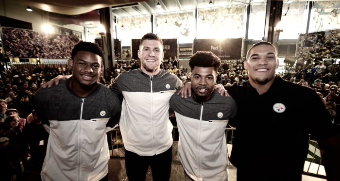 Some of the 2017 Draft class meet the 'Steeler Nation' | Source: steelers.com