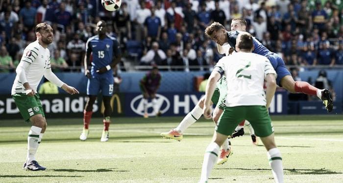 Griezmann foi o homem da vitória francesa esta tarde   Foto: Facebook Euro 2016