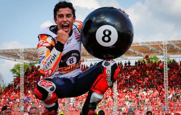 Marc Márquez gana su octavo titulo mundialista. Foto: motogp.com