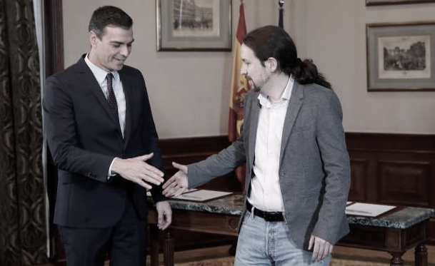 Pedro Sánchez, presidente del Gobierno y Pablo Iglesias, vicepresidente del Gobierno. Foto: Web Oficial de la Moncloa.