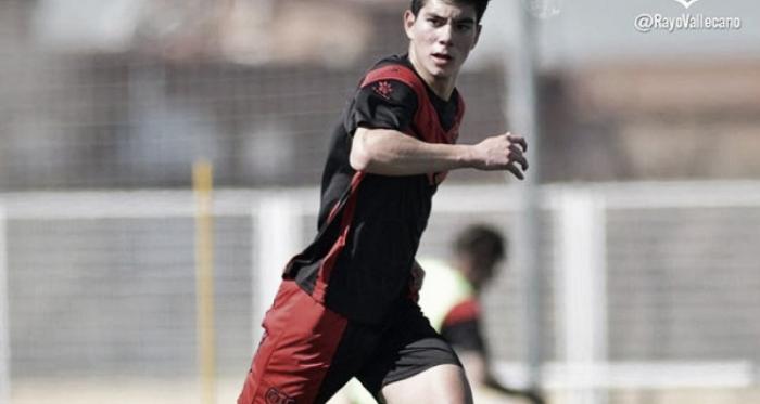 Fernando Macías en un entreno | Fotografía: Rayo Vallecano