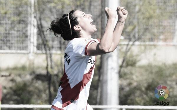 Pilar García celebrando un gol   Fotografía: La Liga
