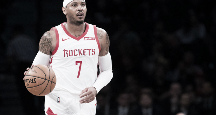"""Carmelo Anthony como jugador de los Rockets. Foto:<span style=""""color: rgb(136, 136, 136); font-family: nyt-imperial, georgia, """"times new roman"""", times, serif; font-size: 13px; font-style: normal; letter-spacing: 0.13px; text-align: left; background-color: rgb(255, 255, 255);"""">Mary Altaffer/Associated Press</span>"""