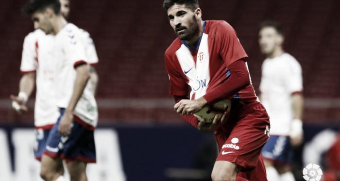 Carmona celebra el gol conseguido ante el Rayo Majadahonda. Fuente: LaLiga