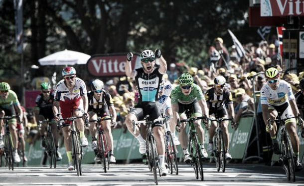 Cavendish finally got his stage win ahead of Andre Greipel. (Image: Simon Gill)