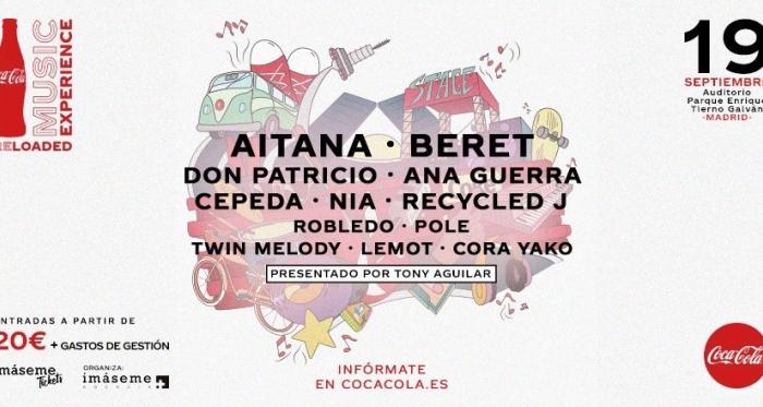 Coca-Cola Music Experience Reloaded 2020 se suma a los festivales de la nueva normalidad