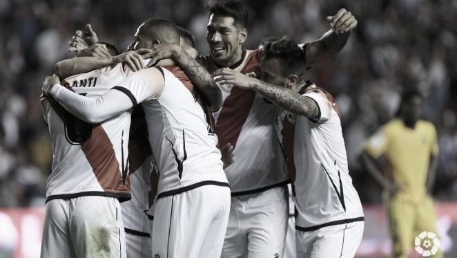El Rayo celebrando un gol | Fuente: Rayo Vallecano S.A.D