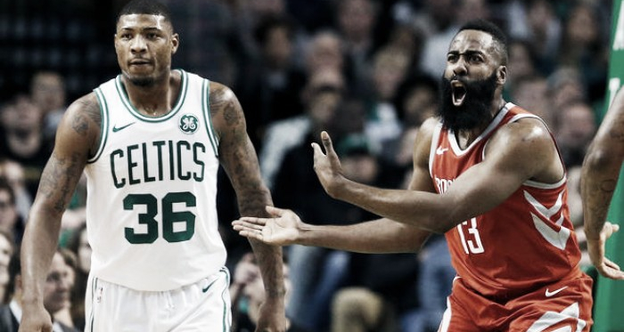 James Harden's two offensive fouls late in the game cost the Houston Rockets what originally seemed to be an easy victory. Photo Credit: Michael Dwyer/AP Photo.