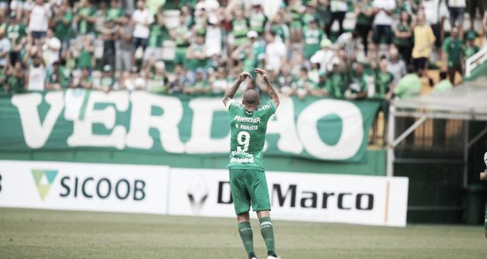 Wellington Paulista garante a vitória da Chapecoense (Foto: Divulgação/Chapecoense)