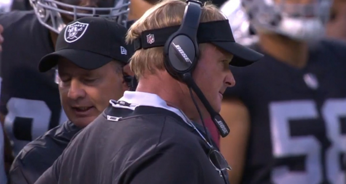 Jon Gruden returns to the sidelines after a 10-year absence. | NFL Gamepass