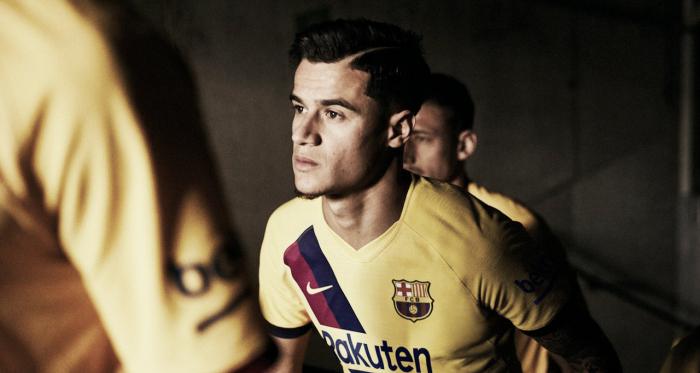 Coutinho y Lenglet en la imagen promocional de la segunda equipación. FOTO: FC Barcelona.