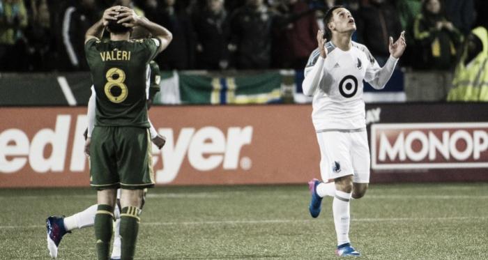 Christian Ramirez scored his ninth goal of the season against the Timbers | Source: Troy Wayrynen - USA TODAY Sports