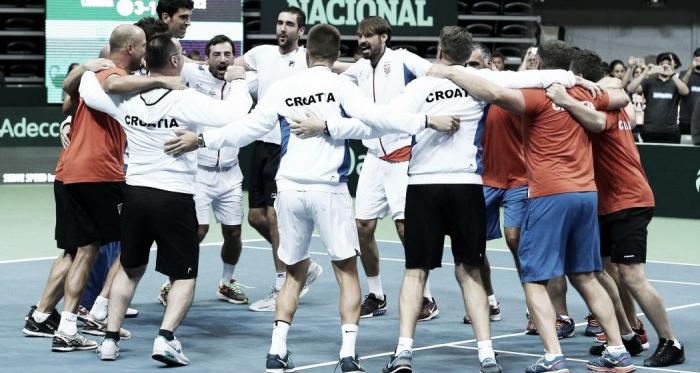 Croatia celebrates their victory over France (Source : Eurosport)
