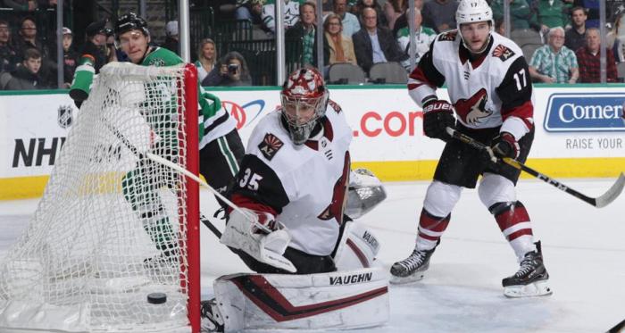 Darcy Kuemper saw five goals go past him. (Photo: NHL.com)