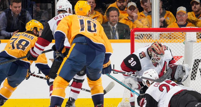 Calvin Pickard was forced to make 42 saves but it was not enough to avoid the loss. (Photo: NHL.com)