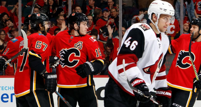 The Calgary Flames players had a lot to celebrate yesterday (Photo: NHL.com)