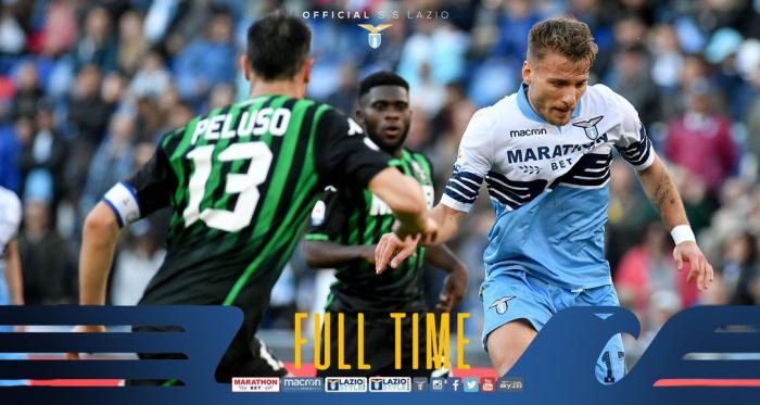 Serie A- Lulic all'ultimo respiro evita il disastro, un Sassuolo cinico blocca la Lazio all'Olimpico (2-2)