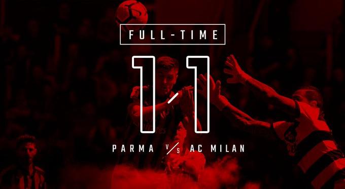 Serie A - Passo falso del Milan: in casa del Parma finisce 1-1