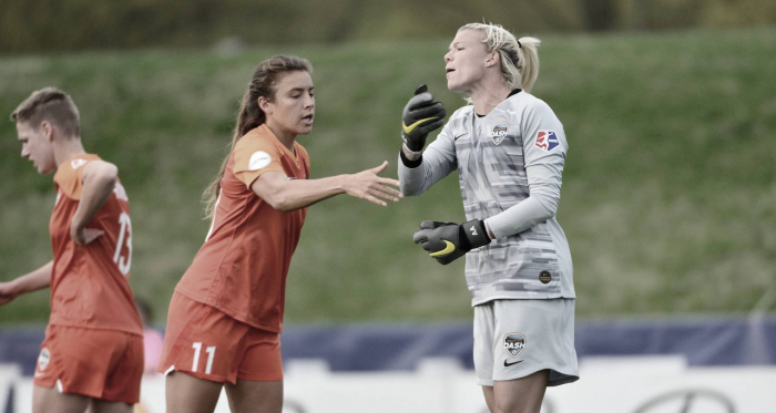 Sofia Huerta (11) scored the only goal of the 1-0 Houston Dash win on the road against Sky Blue FC. | Photo: isiphotos.com