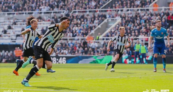 Il Newcastle può festeggiare la vittoria. Fonte: https://twitter.com/NUFC