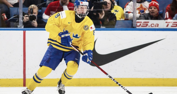 Arizona Coyotes are hoping that Rasmus Dahlin will be wearing a Coyotes' uniform soon. (Photo: Mark Blinch/The Canadian Press via AP)